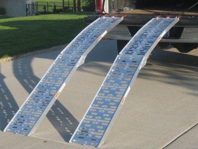 Folding Motorcycle Ramp