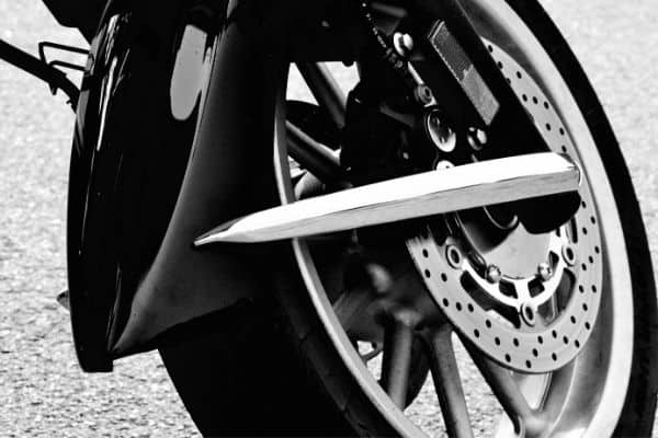 Motorcycle tire sideways