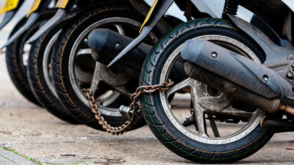 Secure your motorcycle against theft