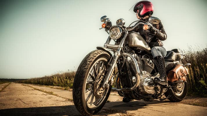 Handlebar position is important for a womans first motorcycle