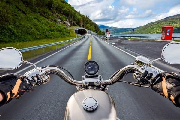 front view motorcycle ride