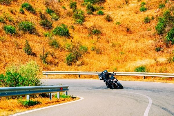 motorcycle curve ride