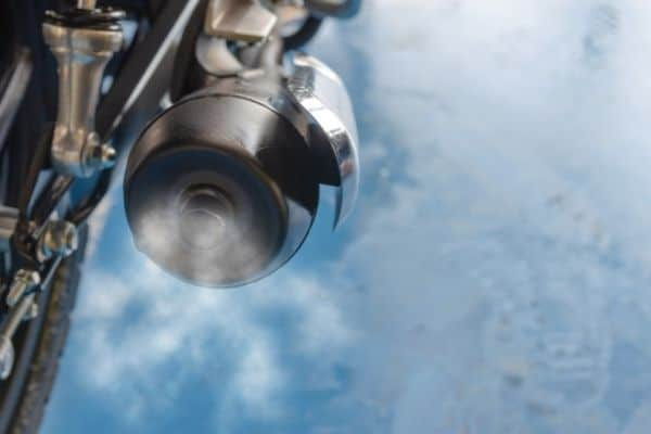 motorcycle exhaust gas inversion